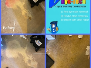 Bleach Spot Repair by Carpet Dye-Tech in Atlanta, GA