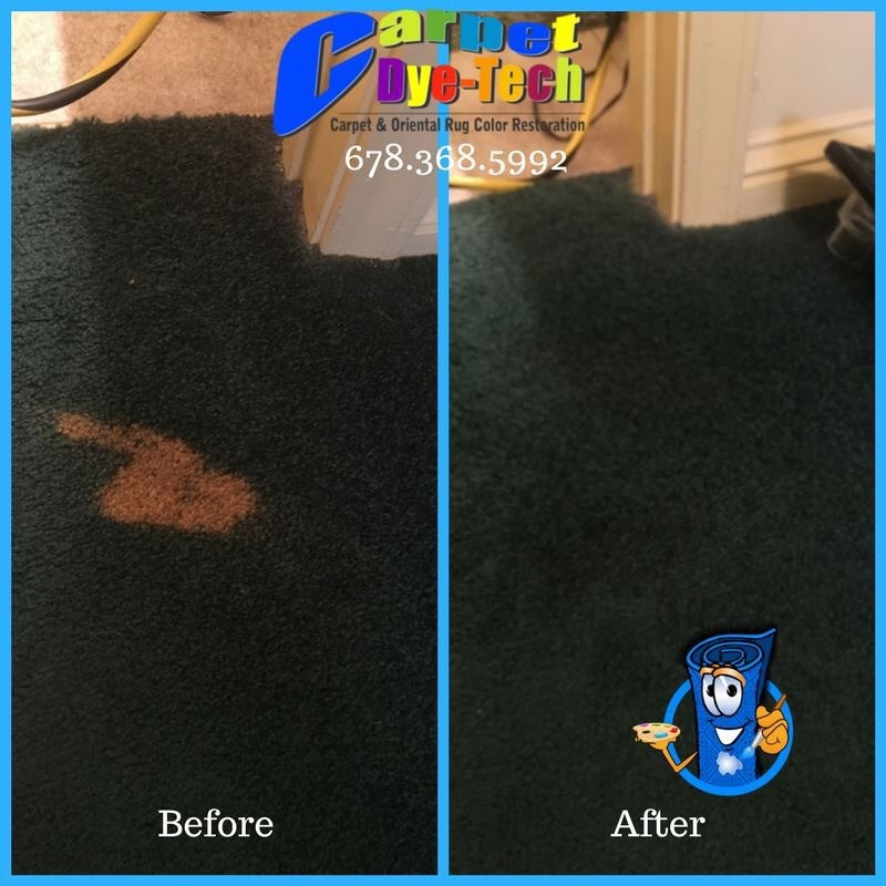 Bleach Damaged Stain Recolor Carpet Repair Carpet Dye